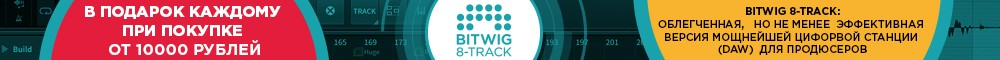bitwig 8-track бесплатно при заказе от 10000р!